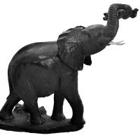 Feeding Elephant Sculpture