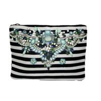 Canvas Printed Pouch With Crystals