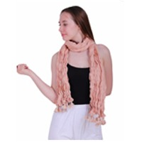 100% Cotton Organic Self Design Stole