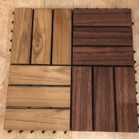 Interlocking Teak Wood Garden Tile