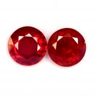 Ruby Gemstone Lead Glass Filling Natural Cut