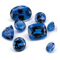 Blue Sapphire Gemstone Lead Glass Filling