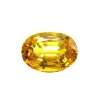 Yellow Sapphire Gemstone Lead Glass Filling