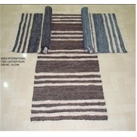 Stripe Leather Rugs