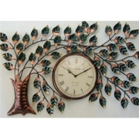 Iron Wall Decor Tree Clock