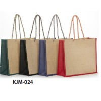 Jute Beach Bag With Thick Rope Handle