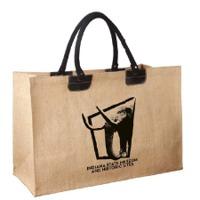 Jute Beach Bag With Handle & Zip Closure