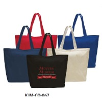 Jumbo Cotton Tote Bag With Velcro Closure
