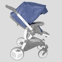Korean Deluxe Crown Sesto Canopy Stroller