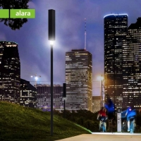 Solar Powered Park Lamp Alara