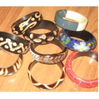 Bangles Of Wood And Resin