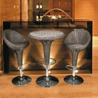 Outdoor Wicker Bar Chairs