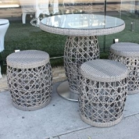 Garden Wicker Bar Stool