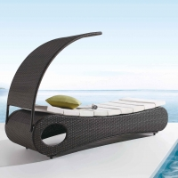 Poly Rattan Sunbed