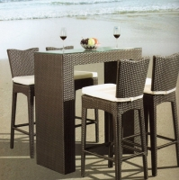 Wicker Rattan Bar Chairs
