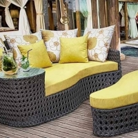 Wicker Rattan Sun Loungers