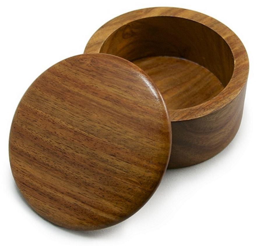 Polished Mango Wood Shaving Soap Bowl