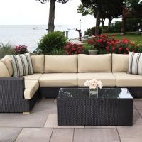 Poly Rattan Sofa Set 6 Pcs