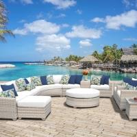 Poly Rattan Big Outdoor Sectional Sofa Set