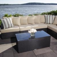 Wicker Rattan Outdoor Sectional Garden Sofa Set
