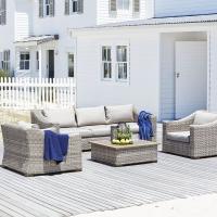 Poly Rattan Patio Outdoor Garden Sofa Set