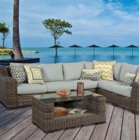 Wicker Rattan Outdoor Garden Sectional Sofa Set