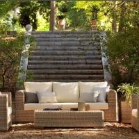 Patio Wicker Rattan Outdoor Garden Sofa Set
