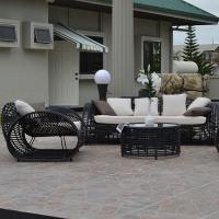 Wicker Resin Bamboo Outdoor Garden Sofa Set