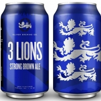 3 Lions Strong Brown Ale  Abv 7.5% Beer