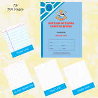 Exercise Notebook A4-200 Pages