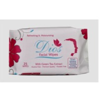 DIOS Facial Wipes With Green Tea Extract