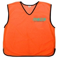 Orange Sports Training Mesh Bibs