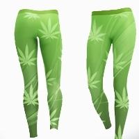 Weed Design Yoga Pants Fitness Stretch Leggings