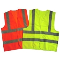 Mesh High Visibility Zipper Front Safety Vest