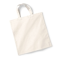 Plain Cotton Handle Shopping Handbag
