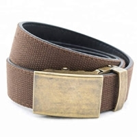 Custom Sliding Buckle Canvas Leather Belt