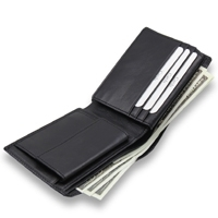 Customized PU Mens Leather Wallet With Promotion