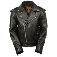 Cowhide Leather Fashion Motorbike Jacket