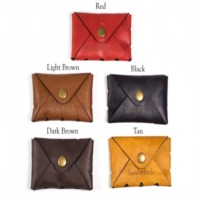 Leather Pouch With Snap Button
