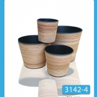 Rattan Plantes With Plastic Insert