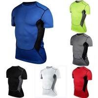 Men's SportsShort Sleeve Tights T-Shirt