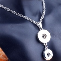 Fashion Women Jewelry Necklace Fit Button