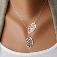 Women Branch Cross Leaf Pendant & Necklace