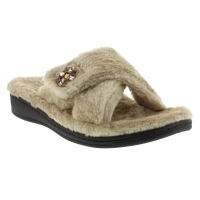Womens Taupe Relaxlux Slip On Slipper Shoes