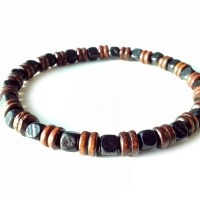 Men's Beaded Shamballa Stretch Bracelet