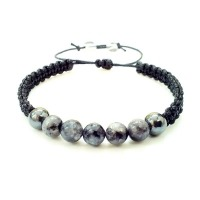 Men's Shamballa Stone Beaded Bracelet