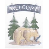 Welcome Sign-Bear