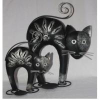 LM Black Cat with Candle Holder