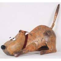 Dog Decor with Candle Holder Inside