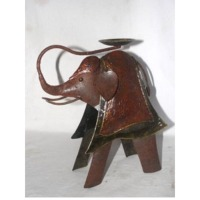 Elephant Decor with Candle Holder